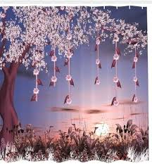 cherry blossom shower curtain enchanted cherry blossom garden fabric shower curtain cherry blossom shower curtain red