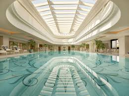 ... Awesome Hotel Interior Swimming Pool With Great Ceiling ...