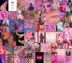 Pink Baddie Wallpapers / Dotwork Clock ...