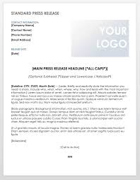 Newspaper Article Summary Template Free Press Release Templates Smartsheet