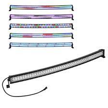 50 Inch Light Bar Halo 288w 50inch Curved Led Work Light Bar Chasing Rgb Halo Ring