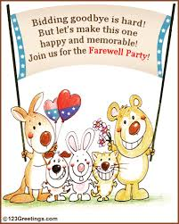 Farewell Party Invitation! Free Save the Date eCards, Greeting ...