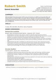 General Resume Samples General Accountant Resume Samples Qwikresume