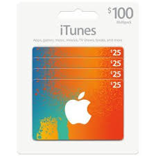 itunes gift card multipack pack of 4