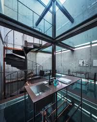 See Through Glass Concrete Tower House With See Through Floors