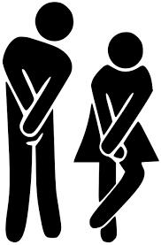 man woman restroom bathroom door sign vinyl decal sticker 6 x 4 minglewood trading