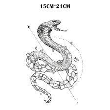 змея водонепроницаемый временные татуировки для мужчин Maquiagem