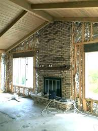 red brick fireplace makeover floor to ceiling brick fireplace makeover red brick fireplace makeover ideas update