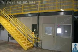warehouse mezzanine modular office. Mezzanine Stairs Over Modular Office Space In Warehouse