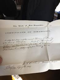 Doctors Note From The 1860s Excusing Someone From The Civil War