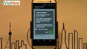 Quickly Suspend And Resume Talkback Mode On Htc One M8 - Visihow