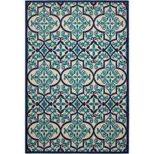 compare aloha navy 5 ft x 7 ft indoor outdoor area rug