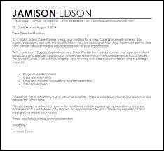 Work Cover Letters Case Worker Cover Letter Sample Cover Letter Templates Examples