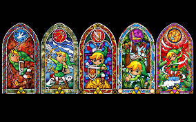 good zelda stained glass wall decal