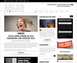 Website Template Newspaper Newspaper Drag Drop Responsive Theme