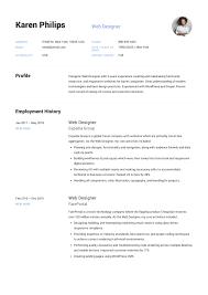 Web Designer Resume Example Template Sample Cv Formal Design