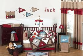 star baby bedding sets all star sports baby boy crib bedding nursery set red  brown blue .