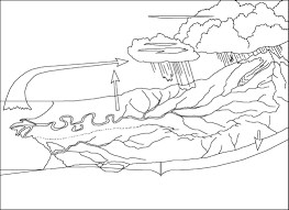 Simple Nature Coloring Pages Best Of Water Cycle Page Drawing At