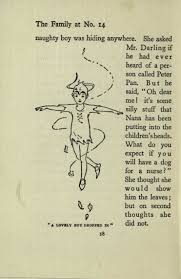 reading the collections week j m barrie peter pan and wendy  peter pan clad in skeleton leaves