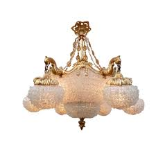 classic chandelier glass bronze handmade monte carlo by hugues thieffry