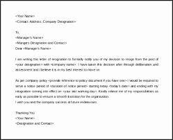 good letter of resignation 16 good letter for resignation besttemplates