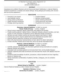 Medical Templates Md Cv Template Word Sundaydriver Co