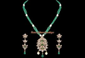 details about unique latest design 4 78ct antique rose cut polki diamond emerald pendant set