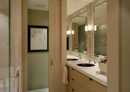 pocked bathroom door for small spaces