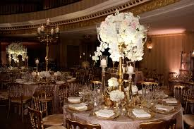 reception d cor photos round table with tall gold centerpiece regarding centerpieces prepare 17