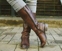 tall boots fall outfits brown leather boots