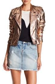 image of blanknyc metallic moto jacket
