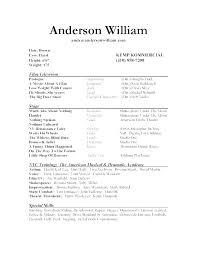 Beginner Acting Resume Sample Unique Actors Resume Sample Beginner Acting Resume Sample Actors Resume