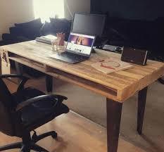 pallet office. Reclaimed Pallet Office Desk H
