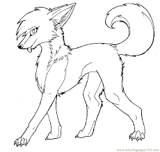 Easy Printable Pictures Of Wolves Coloring Pages Female Wolf Mammals