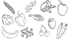 Type Healthy Food Coloring Page Kids Pages Pinterest Color Online