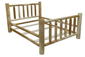 Original Cedar Log Bed