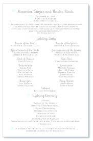 Example Wedding Programs Free Sample Templates Program Ideas