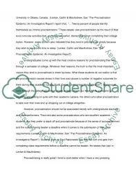 why do college students procrastinate essay example topics and  why do college students procrastinate essay example