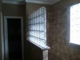 glass block shower 1