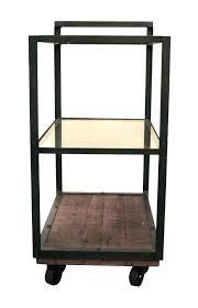 portable wood smoker bar cart medium size of antique brass copper round portab