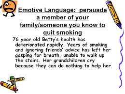 persuasive writing 6 emotive language persuade