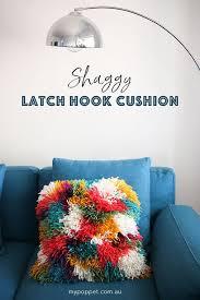 diy gy latch hook cushion cover