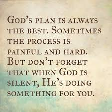 Gods Plan Quotes Interesting God's Plan Is Always The Best Sometimes The Process Is Painful And