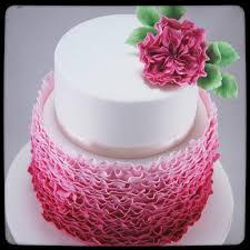 Ruffles Cake Design Pink Ombre Ruffle Cake Inspired By The Magnificent Maggie