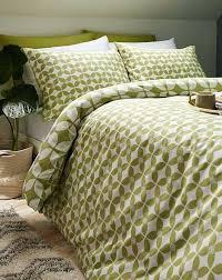 rhea green duvet cover set light twin