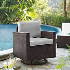 gray and brown wicker patio swivel rocker chair palm harbor rc willey furniture