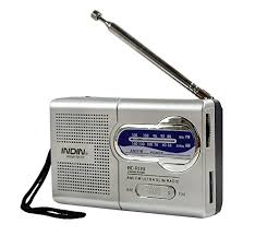radio for office. Handheld AM/FM Mini Radio \u2013 Portable For Emergencies, Office Desk Survival W