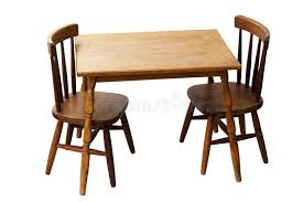 children s child wood table and chairs isolated stock image image of library wood