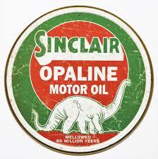 sinclair opaline motor oil tin metal signs gasoline gas dinosaur vine style ebay