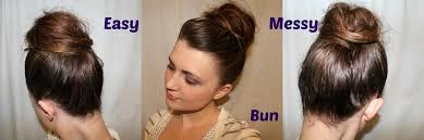 Cute Easy Medium Hairstyles Cute Easy Messy Bun Hairstyle Tutorial For Medium To Long Hair